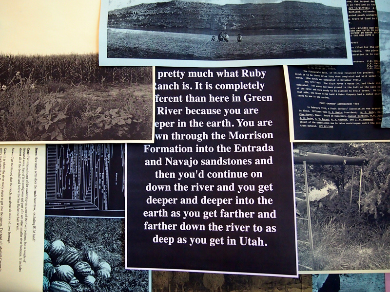 Collage of materials from the Green River Archives by Baugh