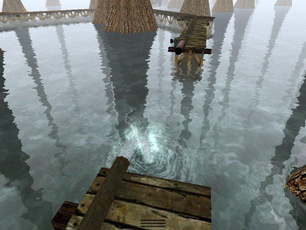 A screenshot from  Myst.