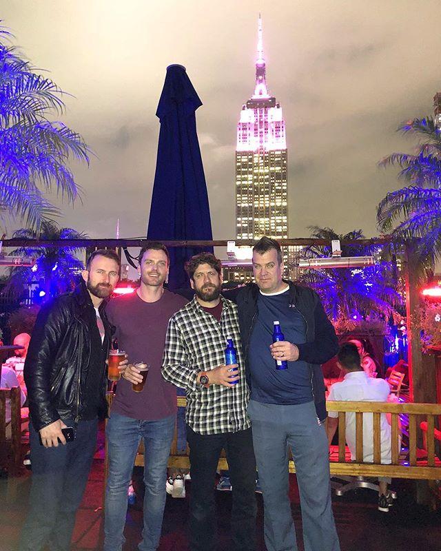 Lovely lights... #newyork #empirestatebuilding #rooftop #nyc