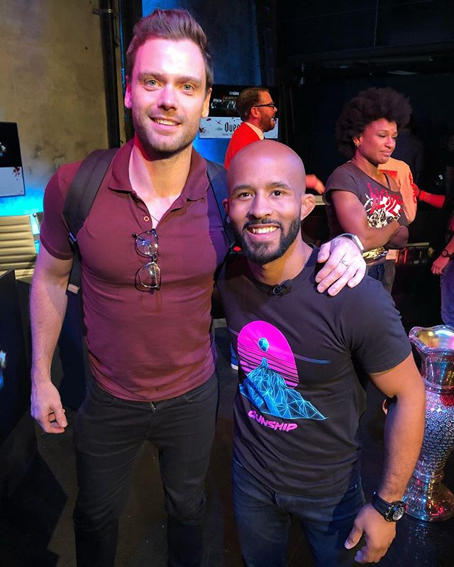Good to work with fellow tough guy @mightymouse125 last night on the IGN Esports Showdown.  There's not many of us who can perfectly execute a flying arm-bar.  #toughguys #alphamales #hardasnails  #ignesportsshowdown #esports #gaming #nyc #newyork