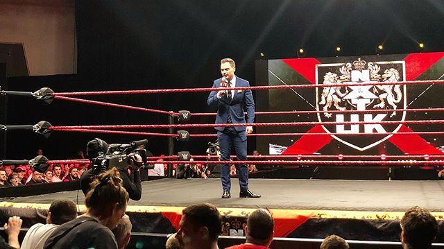 Night 1 of #NXTUK in Plymouth in the books.  I can't wait for the world to see what we've been working on when the shows launch, this Wednesday, October 17th, on the @wwenetwork  #wwe #nxt #wweuk #prowrestling #presenter #host #plymouth