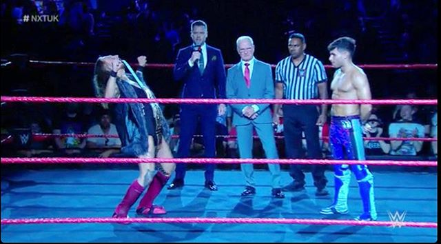 Glad so many of you enjoyed #NXTUK  This is only the beginning.  Welcome to YOUR NXT!  #nxt #wwe #wweuk #prowrestling #sportsentertainment #host #presenter #episode1