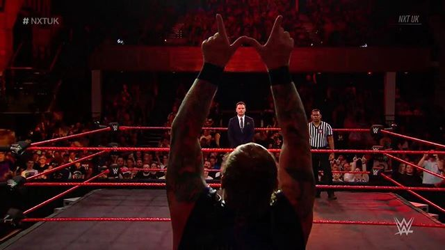 Oh, to be in the arms of @wolfgangyoung_  Love this picture from episode 2 of @NXTUK  #wwe #wweuk #nxt #prowrestling #sportsentertainment #presenter #host #announcer #cambridge