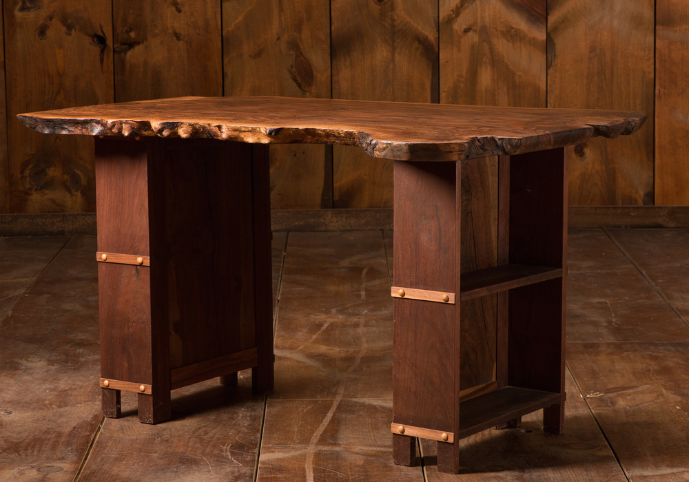 Solid Claro Walnut Bookcase, Desk or Breakfast Table