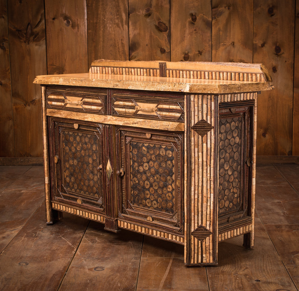 Corrugated Edge Maple Sideboard