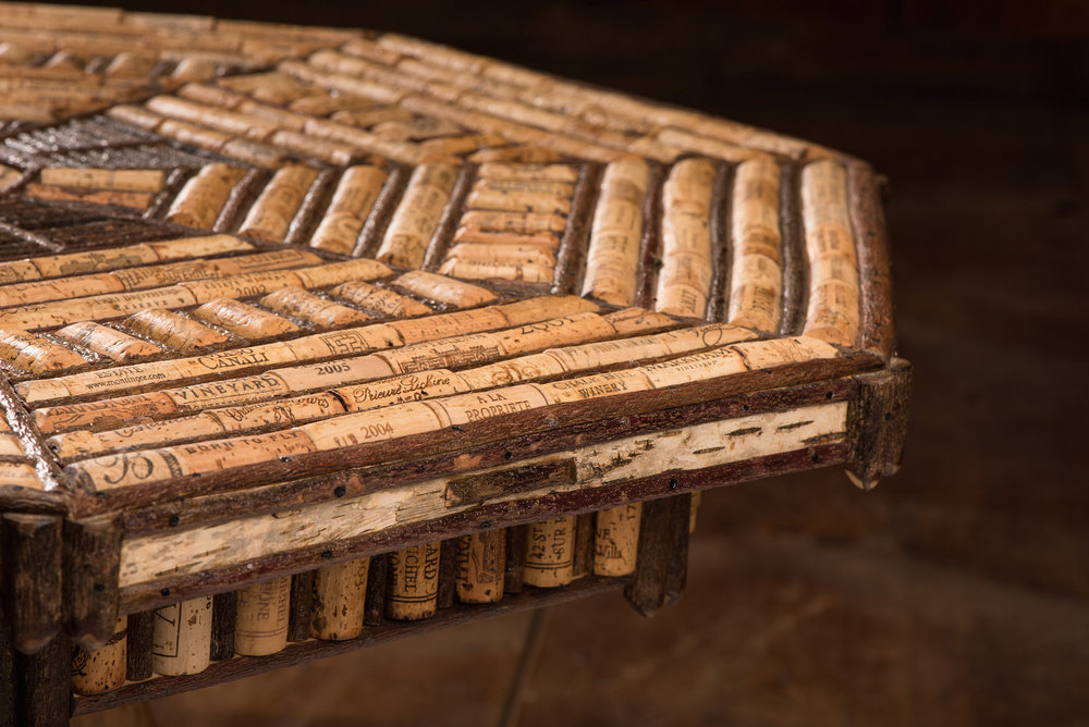 Octagonal Cork and Twig Coffee Table