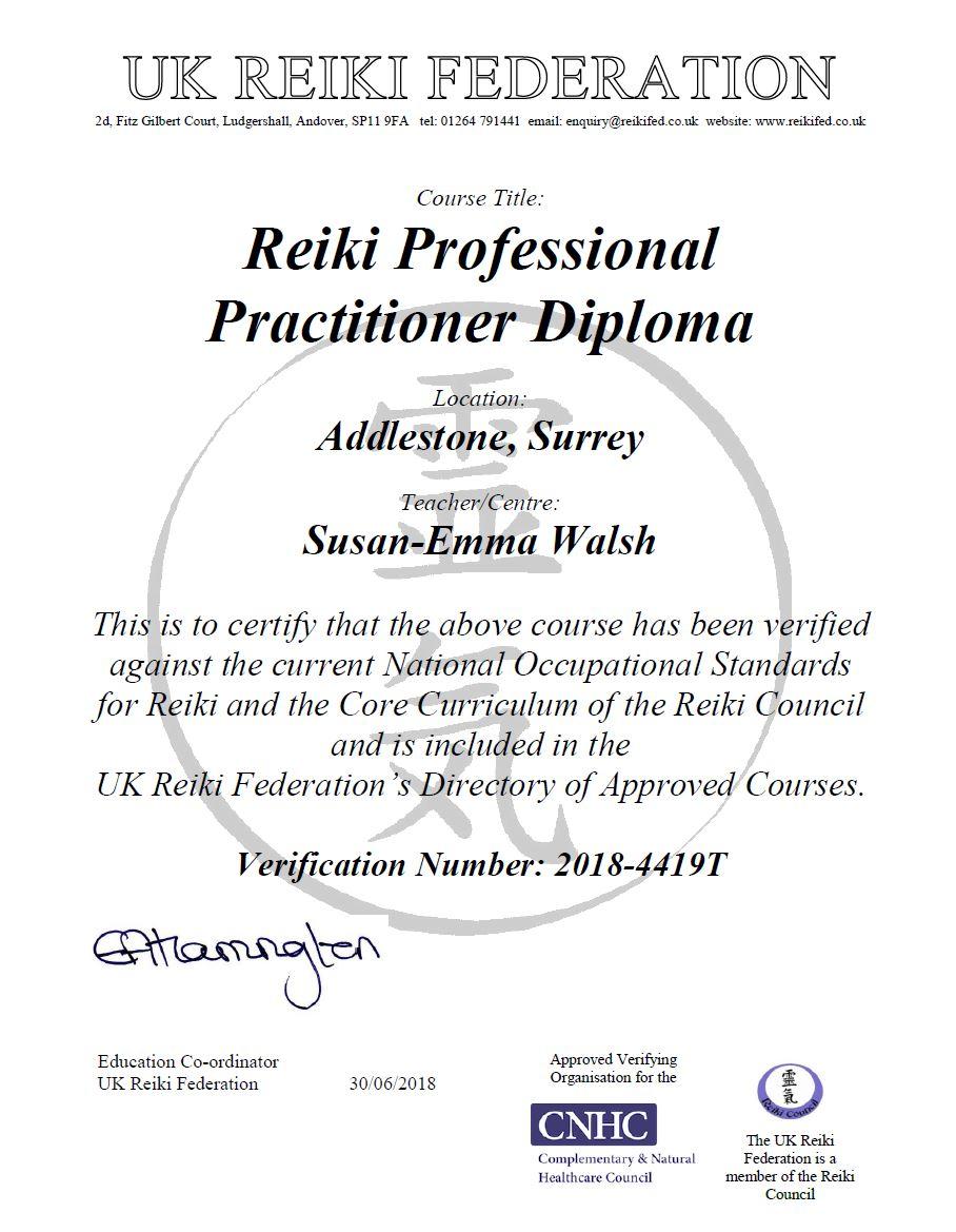 Surrey School of Reiki Accredited Courses