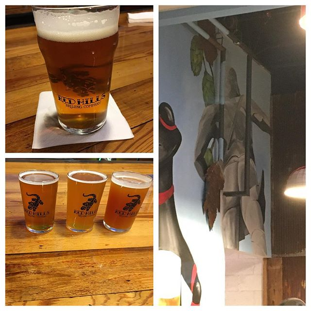 Great night watching the LSU/Auburn game @redhillsbrewingco , great beer and love that they get the Homewood joke of Vulcan's ass. #instagrambham