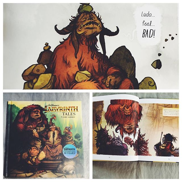 I've never been this excited to get a children's book. The illustrations are amazing thanks to @corygodbey , wonderful work and I'm amazed. #labyrinth #labyrinth30thanniversary
