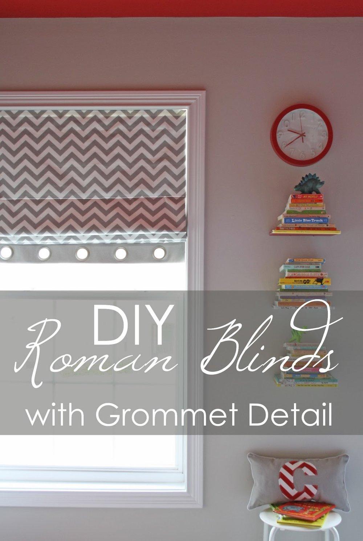 diy no or fun sew shades roman blinds free cheap easy