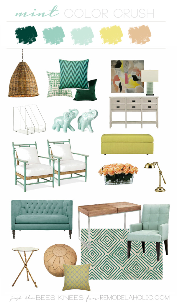 click here and you can read all about my process on designing a color scheme and also divulge in a little bit of minty goodness - Mint Green Color Scheme