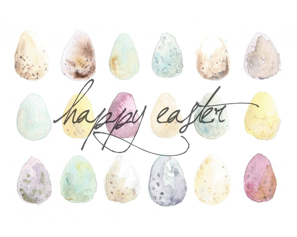 Free Easter Watercolor Printables And Screensaver