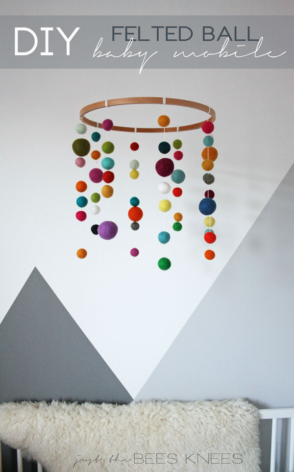 Diy Felted Ball Mobile Interiors By Sarah Langtry