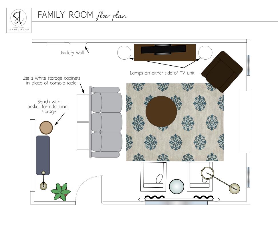 M family living room floor plan