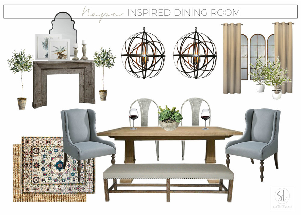 Napa Inspired Dining Room