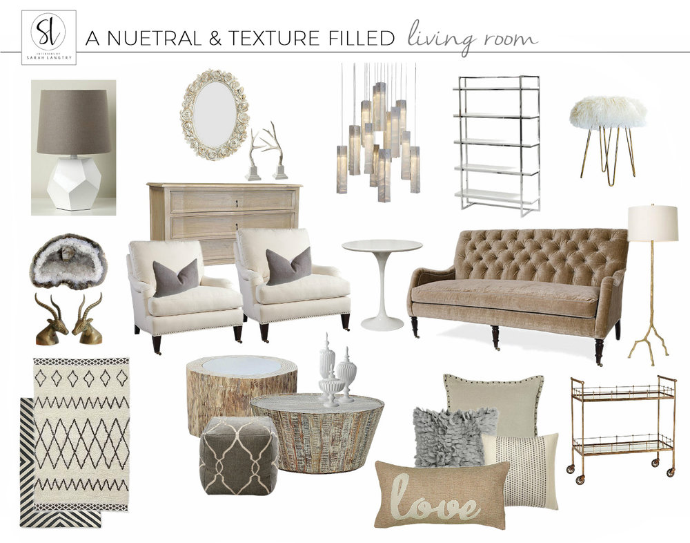 Neutral Textured Living Room