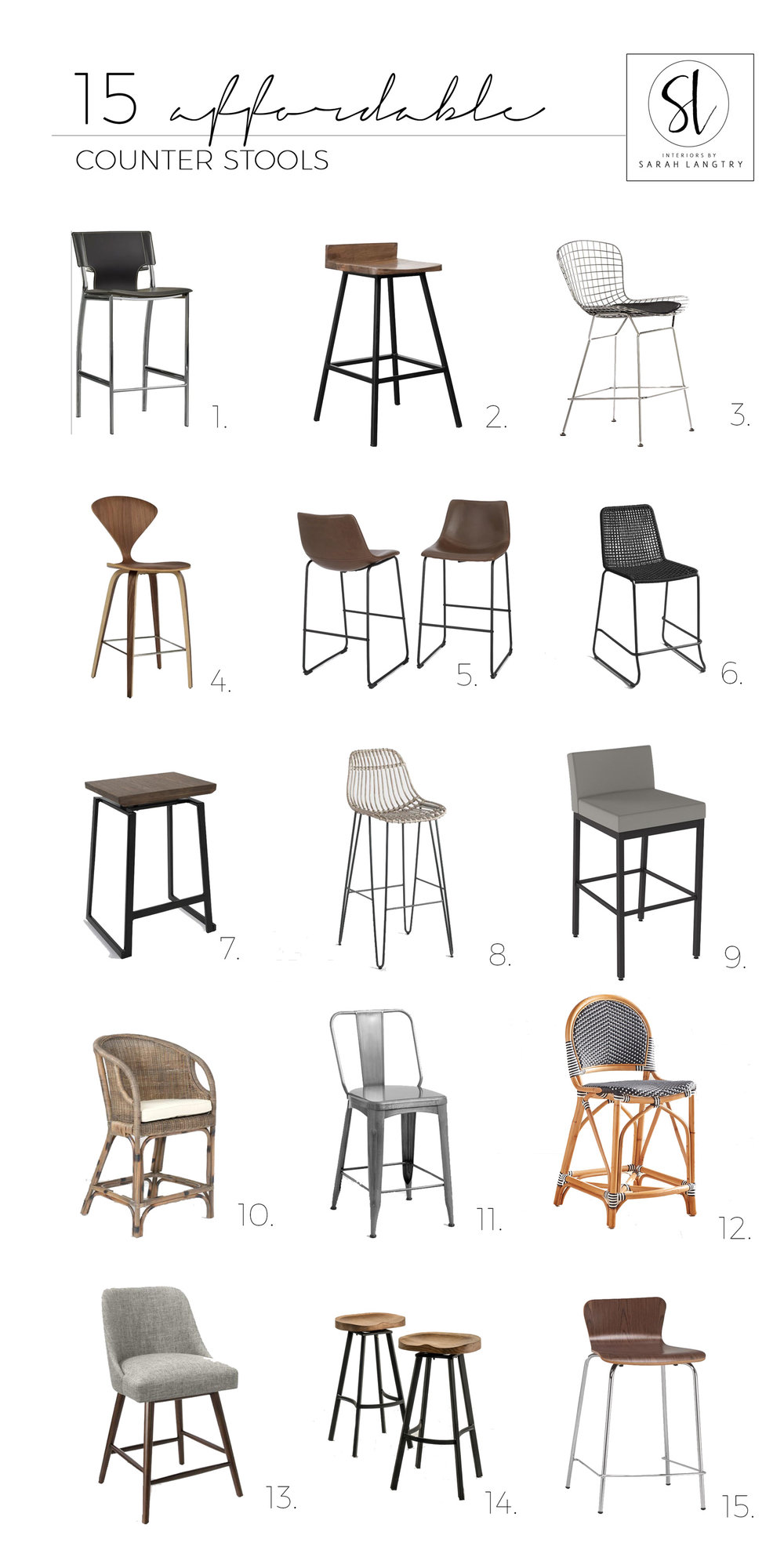 15 Affordable counter stools - so many great options!