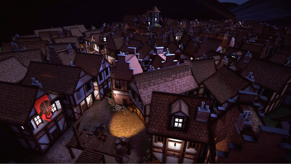 "Panoramic view of the ""idyllic"" Rosenburg town"