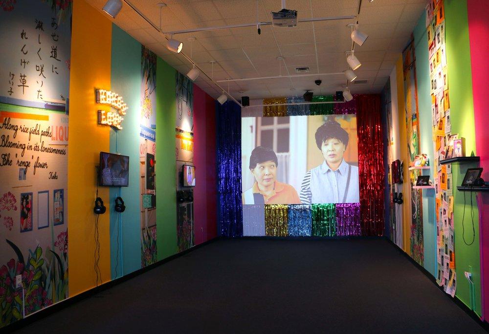 Louisiana Tech University, Ruston, LA (2018) Six-channel mixed media video installation 14' x 28' x 12' tall