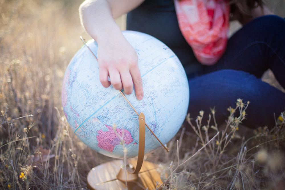 Senior Girl Globe