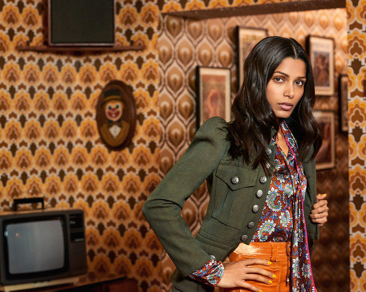 British Vogue - Frieda Pinto