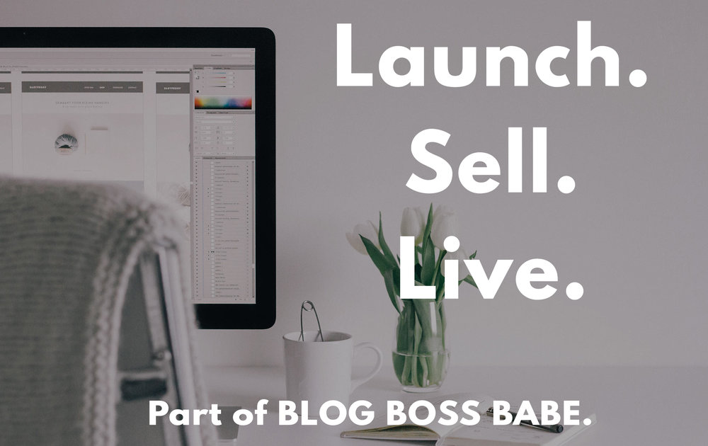 Launch. Sell. Live. - Learn to create a product from scratch, then sell it!