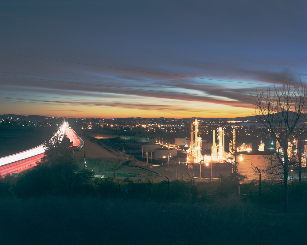 Refinery, I-80, Hercules, CA