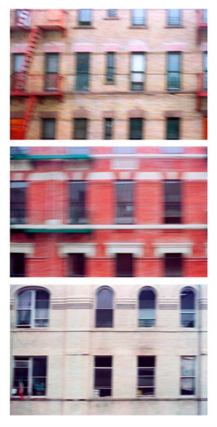 Apartment Buildings, Metro-North Line Entering NYC