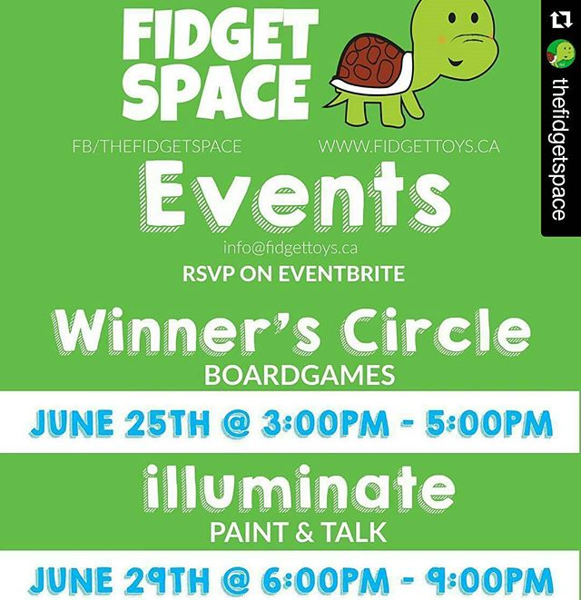 Check out the awesome #events coming up at @thefidgetspace !
