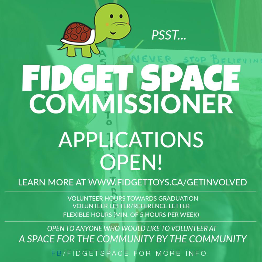 FSC- Fidget Space Commissioner Role