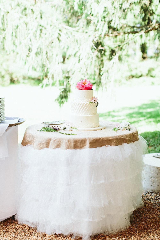 Tulle Ruffled Burlap Tablecloth