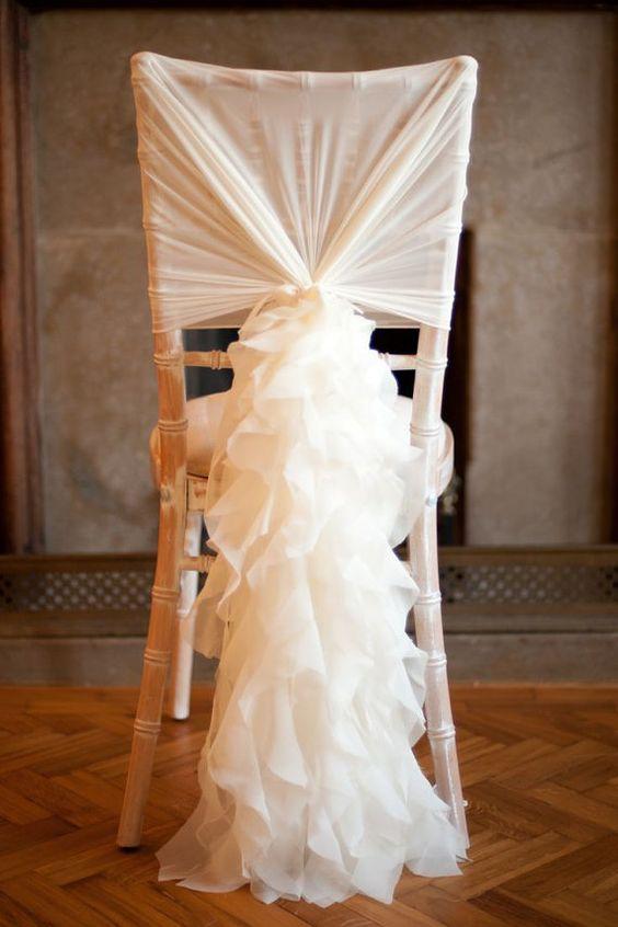 & Romantic Ruffles Chiffon Chair Sash u0026 Cap u2014 Mrs. Freund u0026 Co.