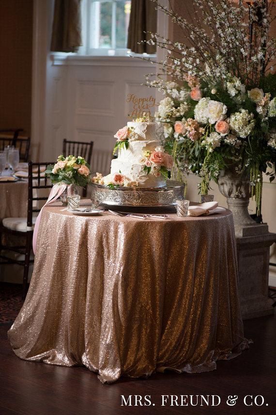 GLITZ Sequin Tablecloth in Champagne by Mrs. Freund & Co. $99+
