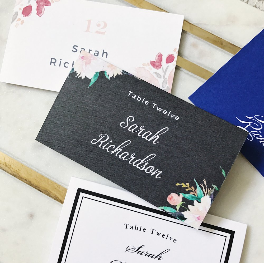 Blossoming Love Place Card by Basic Invite