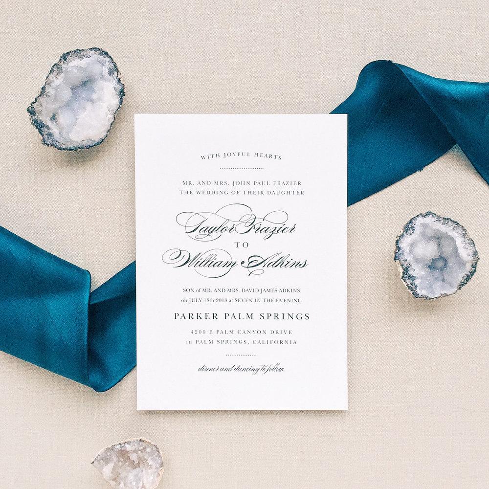 Elegant Vintage Portrait Wedding Invitations by Basic Invite
