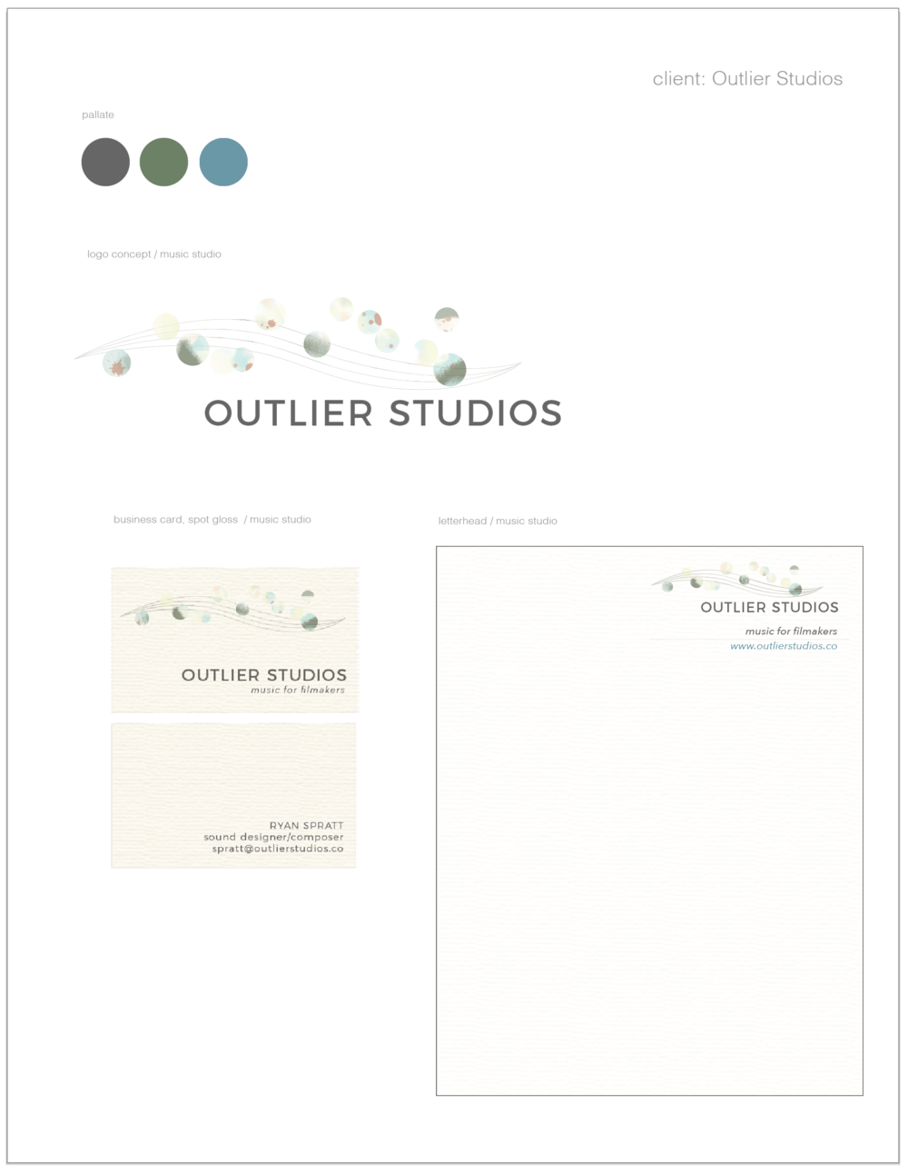 client: Outlier Studios, Los Angeles - logo design, identity