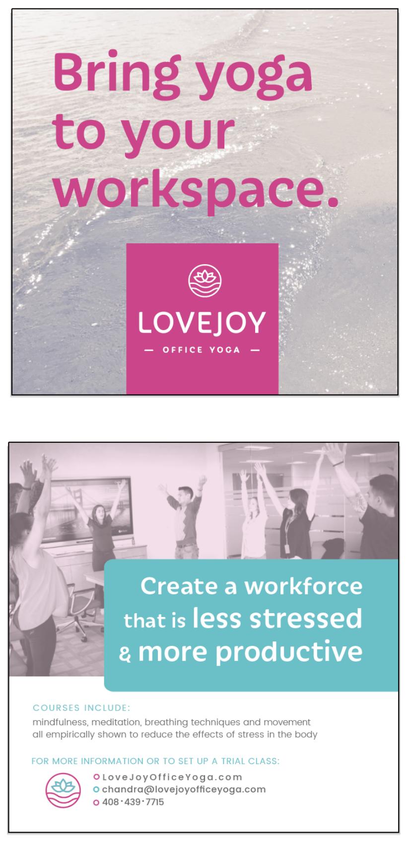- client: Lovejoy Office Yoga, Sacramentopromotional flyer
