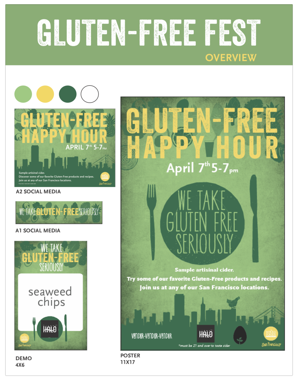 client: Whole Foods Market - in-store signage for city wide event