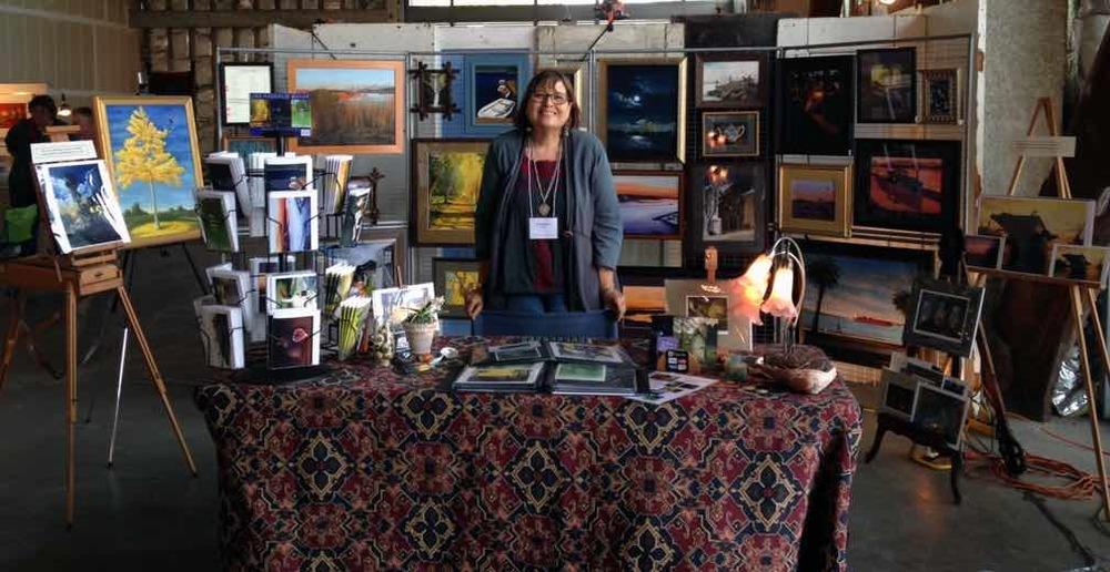 Lisa Haderlie Baker at Open Studios in Jack London Square, Oakland.