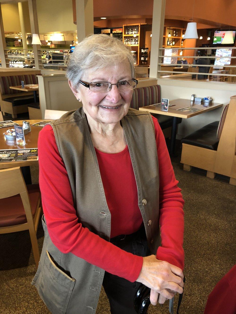 Mary Kathryn, hospice volunteer.