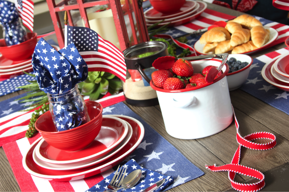 ALL Tabletop Textiles (placemats, napkins, runners) – Plus! – ALL Dishes (plates, bowls and mugs) are now buy 3 get the 4th FREE until June 26th, 2017.