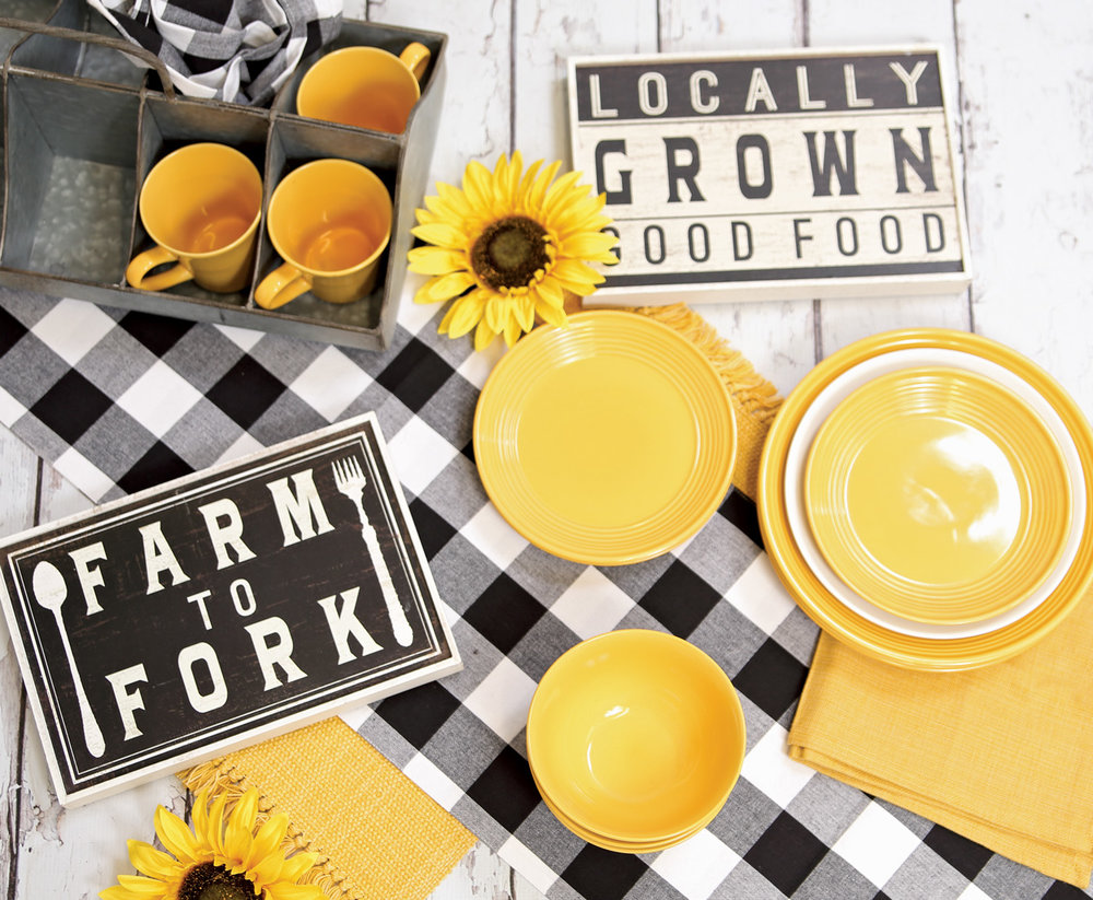 Dishes, Tabletop Textiles, Farmhouse Decor & Galvanized Decor from Prairie Gardens, Champaign IL