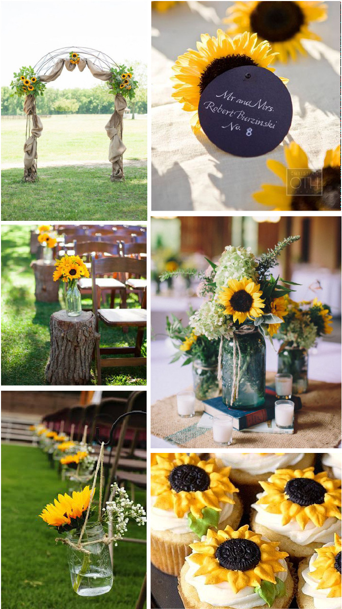 Image Sources •  http://www.himisspuff.com/wedding-arches-wedding-canopies/  •  www.christianothstudio.com  •   Jillian Hogan Photography   •  Stylemepretty.com  •  http://www.ericasweettooth.com/2012/04/lemon-sunflower-cupcakes.html