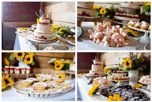 Venue:  Willow Creek Farms  • Photography:  Ebby Lowry  • Cakes:   Hopscotch Cakes