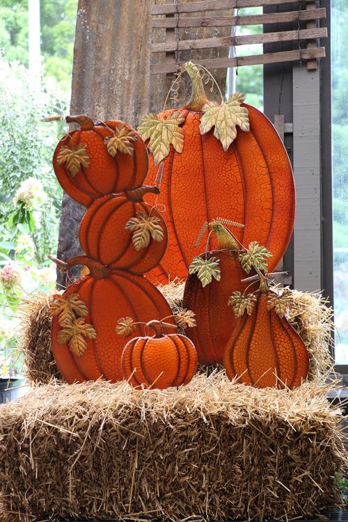 Metal Pumpkin Stakes • $7.97 – 39.97 •Prairie Gardens, Champaign IL