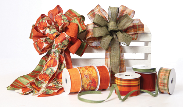 Fall Ribbon and Bows at Prairie Gardens, Champaign IL