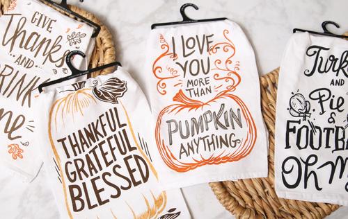 Pumpkin Dishtowels - 6.97 (9.99) value - at Prairie Gardens in Champaign, IL