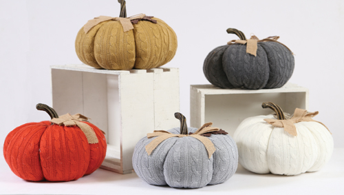 Cable Knit Pumpkins – 16.97 (22.99 value) – at Prairie Gardens in Champaign IL