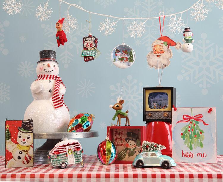 Retro Ornament & Accent Theme Available at Prairie Gardens, Champaign IL
