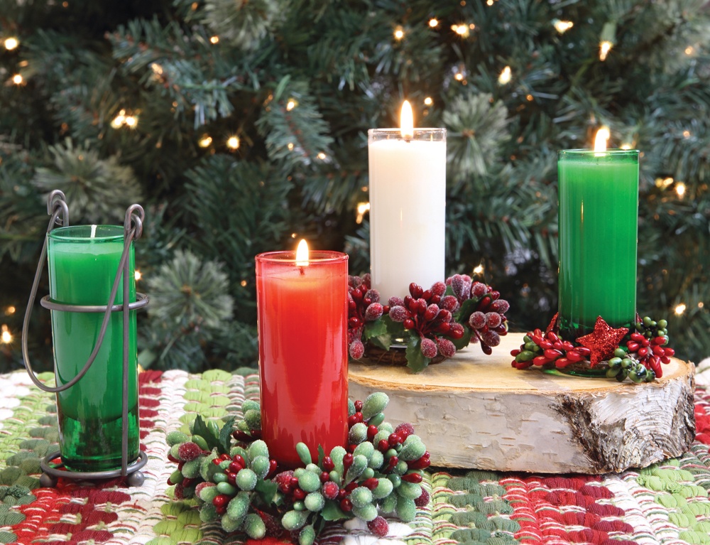 Mixture Candles, 7.99 each, available at Prairie Gardens, Champaign IL